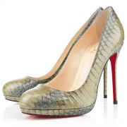 Replica Christian Louboutin Filo 120mm Pumps Green Cheap Fake Shoes