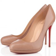 Replica Christian Louboutin Filo 120mm Pumps Nude Cheap Fake Shoes