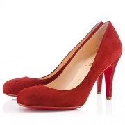 Replica Christian Louboutin Ron Ron 80mm Pumps Red Cheap Fake Shoes