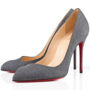 Replica Christian Louboutin Corneille 100mm Pumps Grey Cheap Fake Shoes
