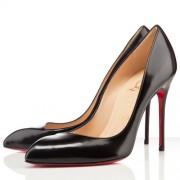 Replica Christian Louboutin Corneille 100mm Pumps Black Cheap Fake Shoes