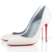 Replica Christian Louboutin Corneille 100mm Pumps White Cheap Fake Shoes