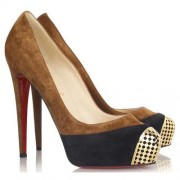 Replica Christian Louboutin Maggie 140mm Pumps Brown Cheap Fake Shoes