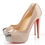 Replica Christian Louboutin Maggie 140mm Pumps Nude Cheap Fake Shoes
