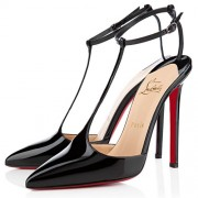 Replica Christian Louboutin T-Piga 120mm Pumps Black Cheap Fake Shoes