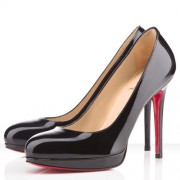 Replica Christian Louboutin New Simple 120mm Pumps Black Cheap Fake Shoes
