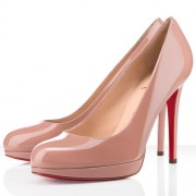 Replica Christian Louboutin New Simple 120mm Pumps Nude Cheap Fake Shoes