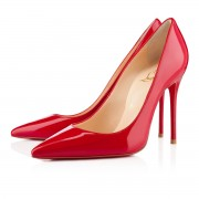 Replica Christian Louboutin Decollete 554 100mm Pumps Red Cheap Fake Shoes
