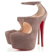 Replica Christian Louboutin Maillot 160mm Pumps Taupe Cheap Fake Shoes