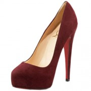 Replica Christian Louboutin Miss Clichy 140mm Pumps Wine Cheap Fake Shoes