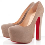 Replica Christian Louboutin Daffy 160mm Pumps Taupe Cheap Fake Shoes