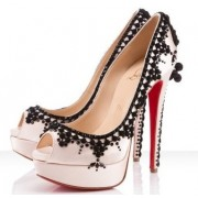 Replica Christian Louboutin Torero 140mm Peep Toe Pumps Nude Cheap Fake Shoes