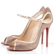 Replica Christian Louboutin 1en8 100mm Peep Toe Pumps Multicolor Cheap Fake Shoes