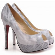 Replica Christian Louboutin Altadama 140mm Peep Toe Pumps Python Cheap Fake Shoes