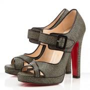 Replica Christian Louboutin Dordogne 120mm Peep Toe Pumps Black Cheap Fake Shoes