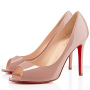 Replica Christian Louboutin You You 100mm Peep Toe Pumps Nude Cheap Fake Shoes