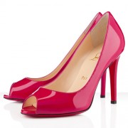 Replica Christian Louboutin You You 100mm Peep Toe Pumps Rose Matador Cheap Fake Shoes