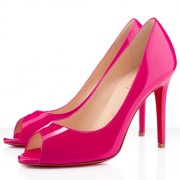 Replica Christian Louboutin You You 100mm Peep Toe Pumps Hot Pink Cheap Fake Shoes
