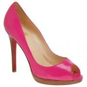 Replica Christian Louboutin Yolanda 120mm Peep Toe Pumps Rose Matador Cheap Fake Shoes