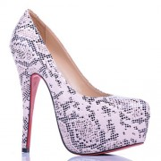 Replica Christian Louboutin Daffodile Lace 160mm Platforms White Cheap Fake Shoes