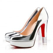 Replica Christian Louboutin Embellished 140mm Pumps Silver Cheap Fake Shoes