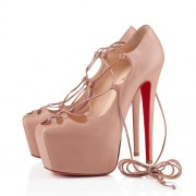 Replica Christian Louboutin Ghildarc 160mm Platforms Nude Cheap Fake Shoes