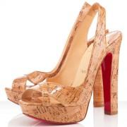 Replica Christian Louboutin Marple Town 140mm Slingbacks Natural Cheap Fake Shoes