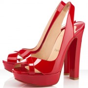 Replica Christian Louboutin Marple Town 140mm Slingbacks Red Cheap Fake Shoes