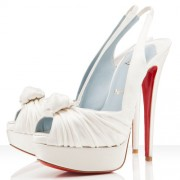 Replica Christian Louboutin Jenny 140mm Special Occasion Off White Cheap Fake Shoes