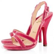 Replica Christian Louboutin Fine Romance 120mm Slingbacks Rose Paris Cheap Fake Shoes