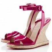 Replica Christian Louboutin You Love 120mm Wedges Rose Matador Cheap Fake Shoes