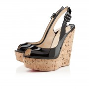 Replica Christian Louboutin Une plume 140mm Wedges Black Cheap Fake Shoes