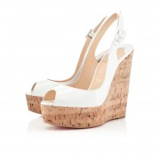 Replica Christian Louboutin Une plume 140mm Wedges White Cheap Fake Shoes