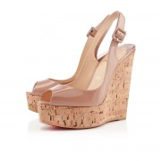 Replica Christian Louboutin Une plume 140mm Wedges Nude Cheap Fake Shoes