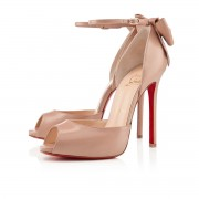 Replica Christian Louboutin Dos Noeud 120mm Sandals Nude Cheap Fake Shoes