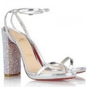 Replica Christian Louboutin Au Palace 120mm Sandals Silver Cheap Fake Shoes