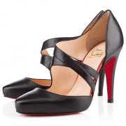 Replica Christian Louboutin Citoyenne 100mm Sandals Black Cheap Fake Shoes