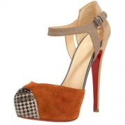 Replica Christian Louboutin Boulima Exclusive D'orsay 120mm Sandals Brown Cheap Fake Shoes