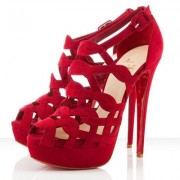 Replica Christian Louboutin Larissa Plato 140mm Sandals Red Cheap Fake Shoes