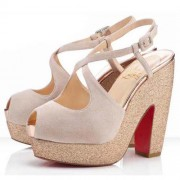 Replica Christian Louboutin Martel 140mm Sandals Nude Cheap Fake Shoes