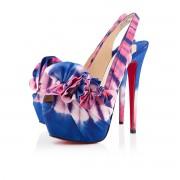 Replica Christian Louboutin High Boubou 160mm Platforms Blue/Pink Cheap Fake Shoes