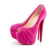 Replica Christian Louboutin Drapesse 160mm Peep Toe Pumps Grenadine Cheap Fake Shoes