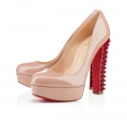 Replica Christian Louboutin Taclou 140mm Platforms Nude Cheap Fake Shoes
