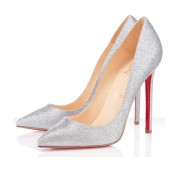 Replica Christian Louboutin Pigalle 120mm Pumps Silver Cheap Fake Shoes