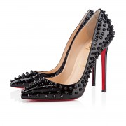 Replica Christian Louboutin Pigalle Spikes 120mm Pumps Black Cheap Fake Shoes