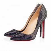 Replica Christian Louboutin Pigalle 120mm Pumps Blue Khol Cheap Fake Shoes