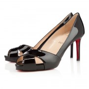 Replica Christian Louboutin Shelleymat 80mm Pumps Black Cheap Fake Shoes