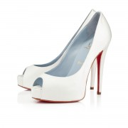 Replica Christian Louboutin Vendome 120mm Special Occasion Off White Cheap Fake Shoes