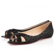 Replica Christian Louboutin Croisette Flat Sandals Black Cheap Fake Shoes