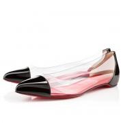Replica Christian Louboutin Corbeau Flat Sandals Black Cheap Fake Shoes